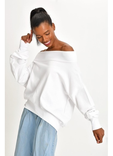Quincey Sweatshirt Beyaz